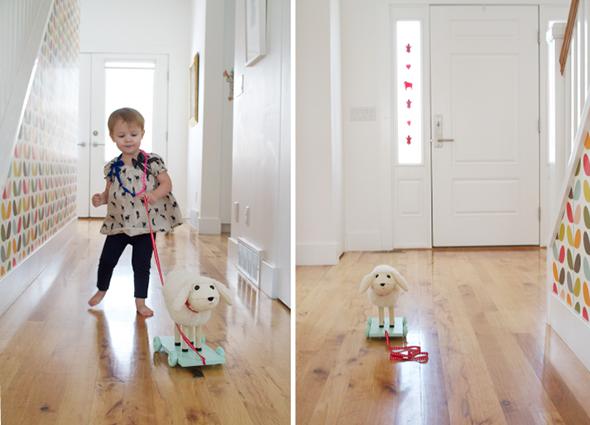 Lamb pull Toy - ONE MORE MUSHROOM