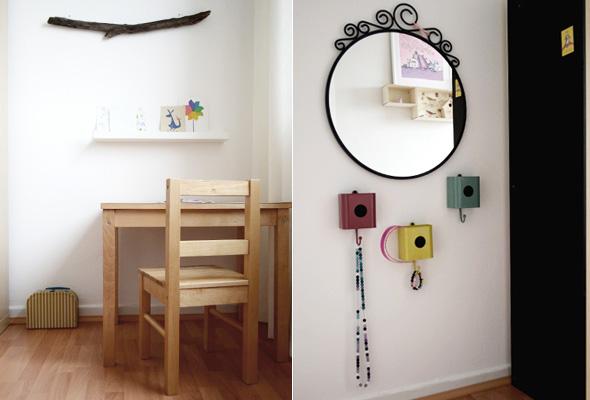 kinderzimmer spiegel und tisch butterflyfish. Black Bedroom Furniture Sets. Home Design Ideas