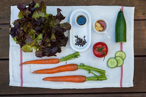 Kinderteller Grillevent - Zutaten für Salat
