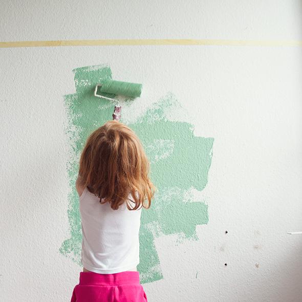 kinderzimmer renovieren - streichen - Kinderzimmer Streichen Rot
