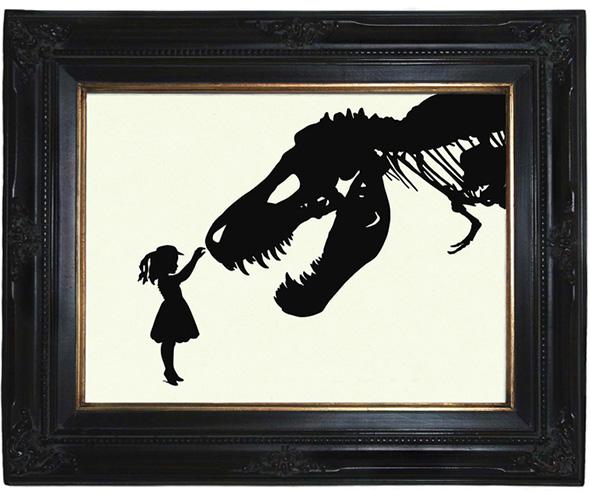 dinosaurierbild - dawanda - oddemporium