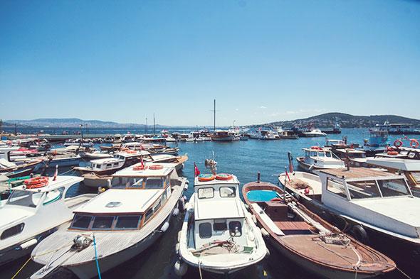 Istanbul mit Kind - heybeliada Hafen