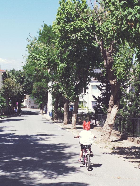 Istanbul mit Kind - heybeliada radfahren