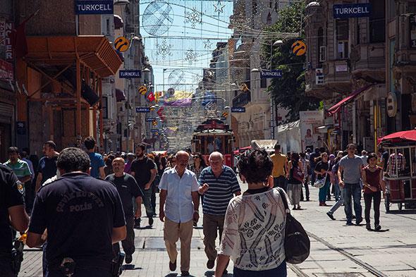 Istanbul mit Kind - istiklal caddesi