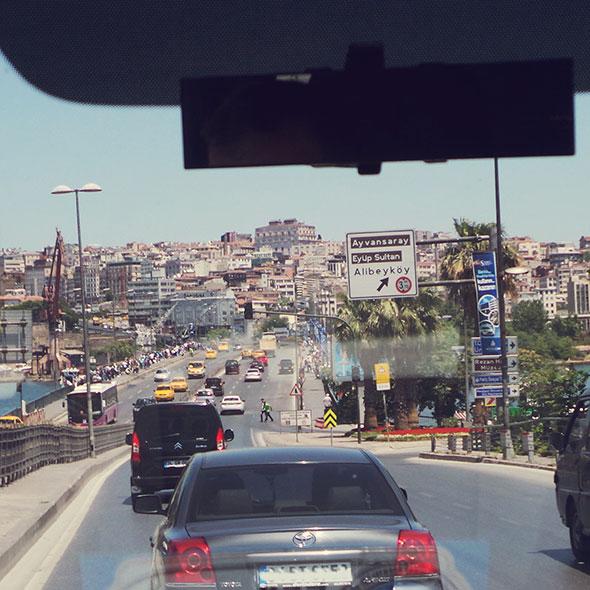 istanbul mit Kind - Verkehr