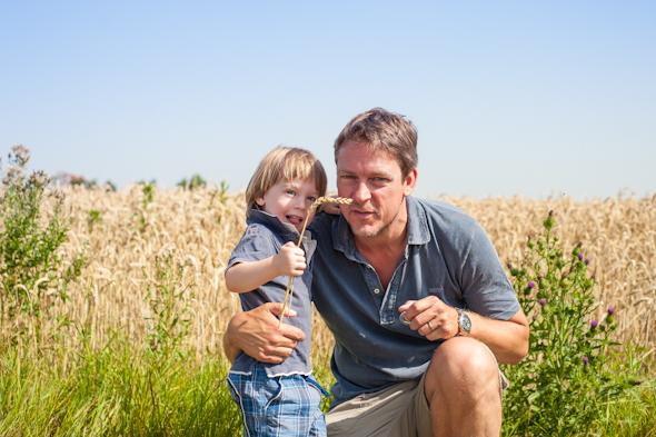 Weizenernte - Michael König mit Peter