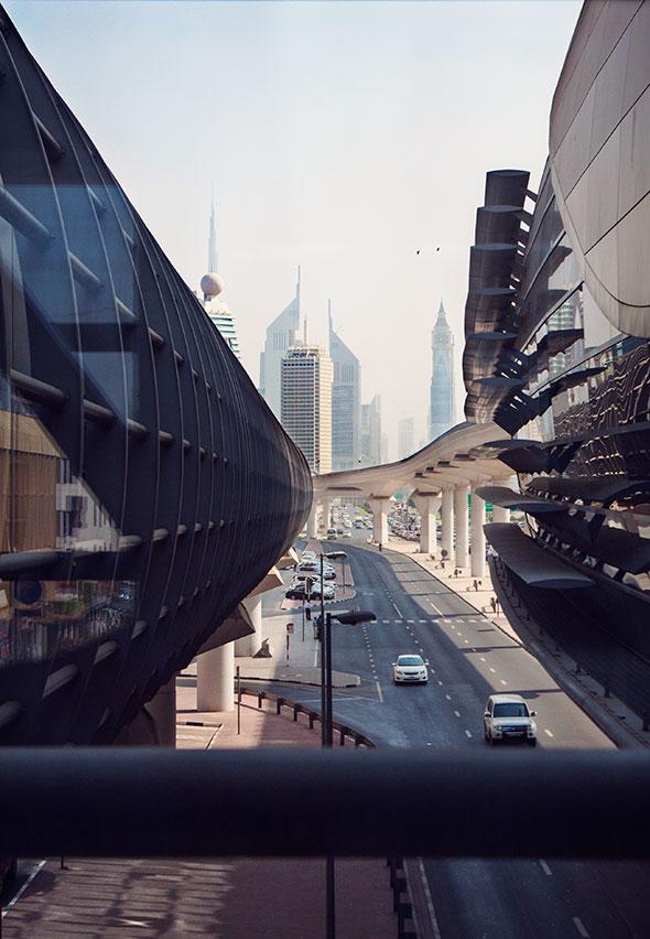 Futuristische Aussichten in Dubai