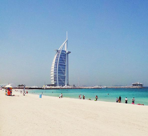 Burj Al Arab - am öffentlichen Strand