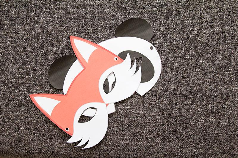 DIY Fuchsmaske und Pandamaske