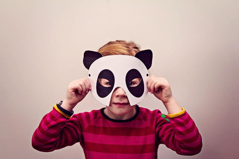 DIY Pandamaske