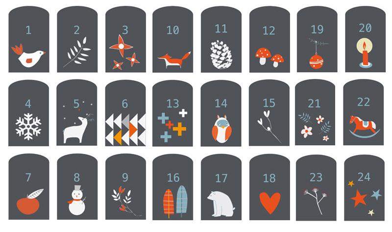 Schmuckanhänger für Adventskalender