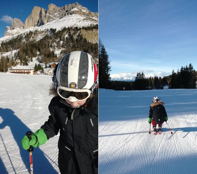 Skifahren mit Kind