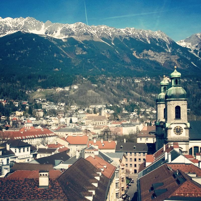Innsbruck von oben - Stadtturm - Tirol - butterflyfish