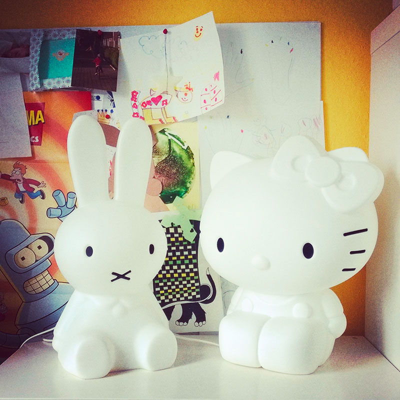 Miffy Lampe und Hallo Kitty