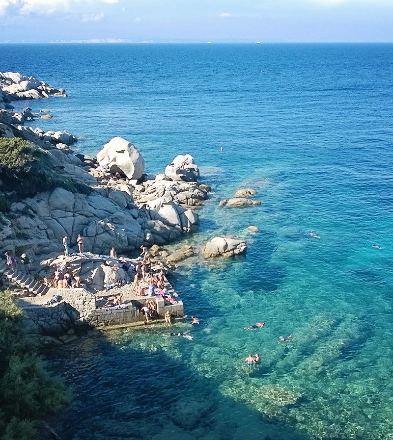 Sardinien mit Kindern - Capo Testa Bucht