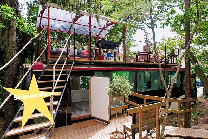 airbnb wohnen bus