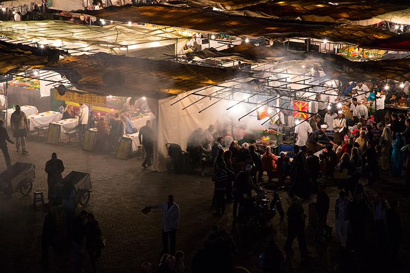 wochenende marrakesch djemaaelfna aussicht