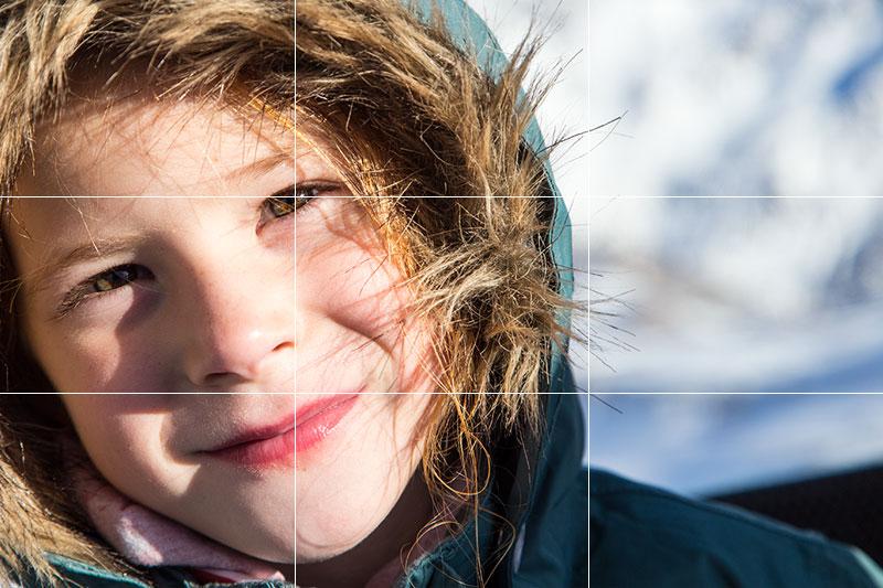 Fotokurs Drittel Regel Portrait