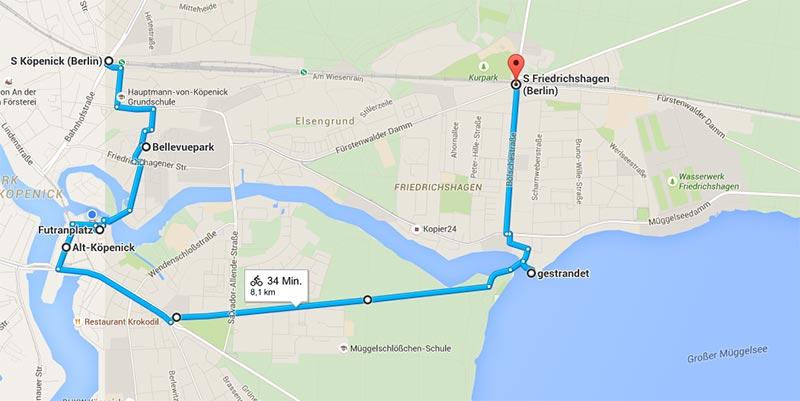 mit dem fahrrad durch berlin route
