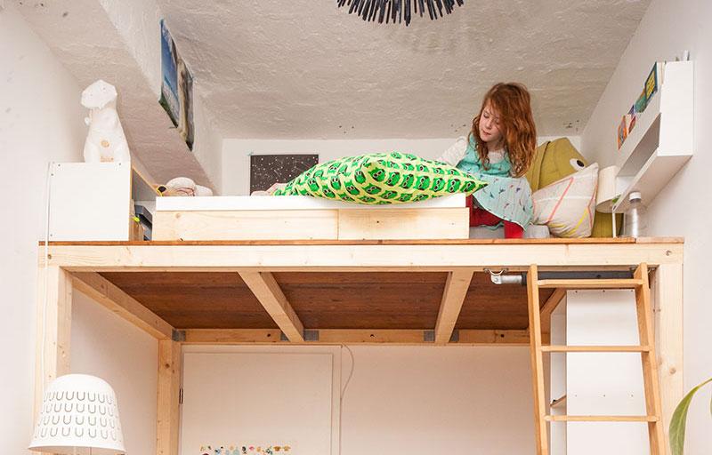 ein hochbett selber bauen diy anleitung butterflyfish. Black Bedroom Furniture Sets. Home Design Ideas