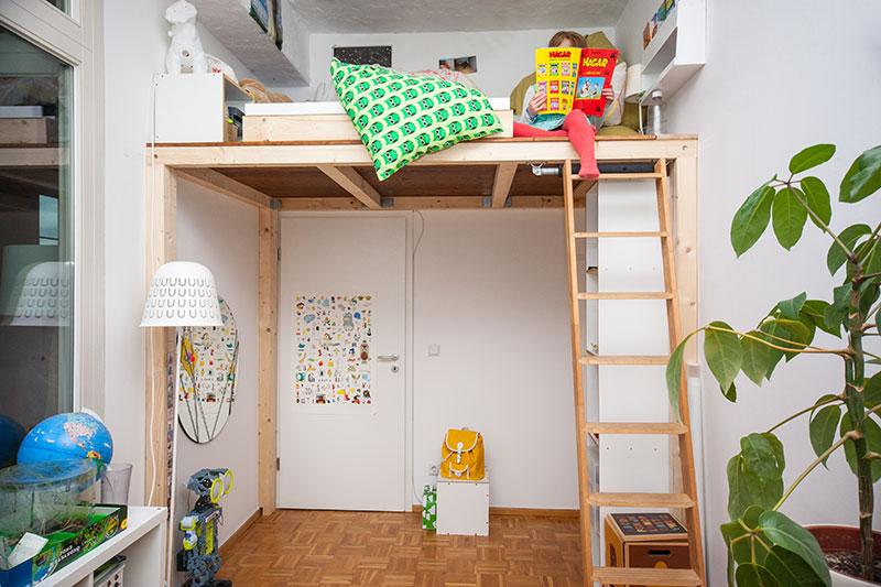 Hochbetten selber bauen wohn design - Hochbett selber bauen 180x200 ...
