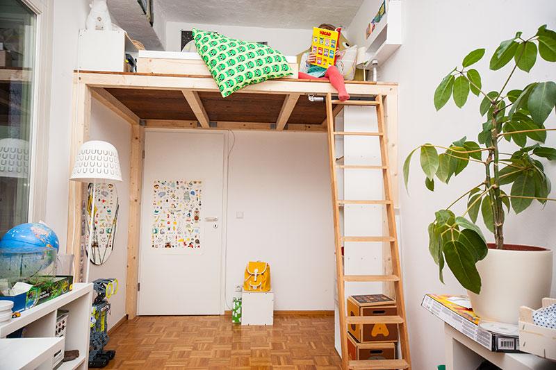 Etagenbett Eingebaut : Ein hochbett selber bauen diy anleitung butterflyfish