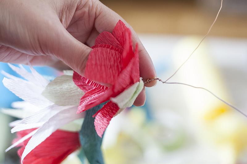 selbermachen papierblumen