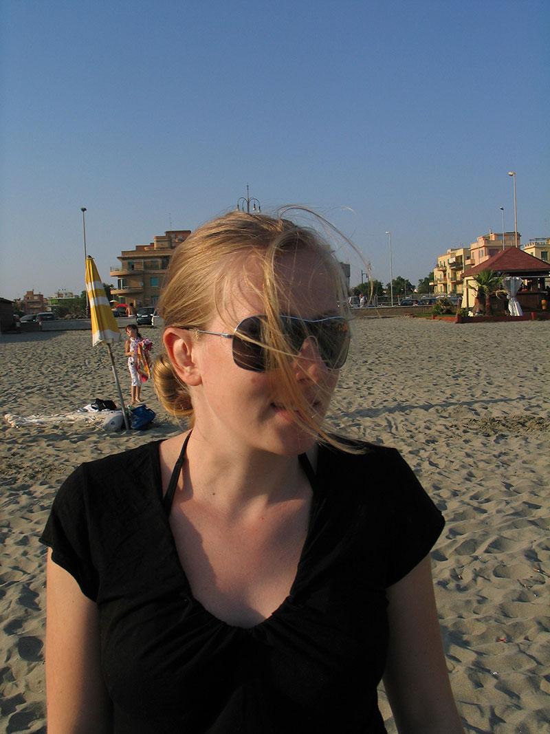 Erholung am Strand Rom