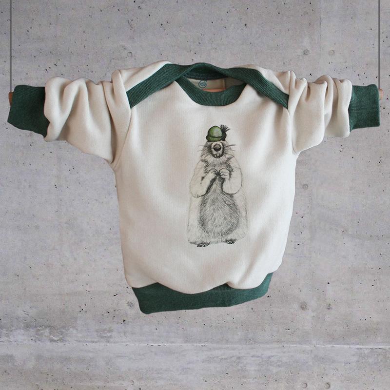 gluecksmeise baby sweater murmeltier