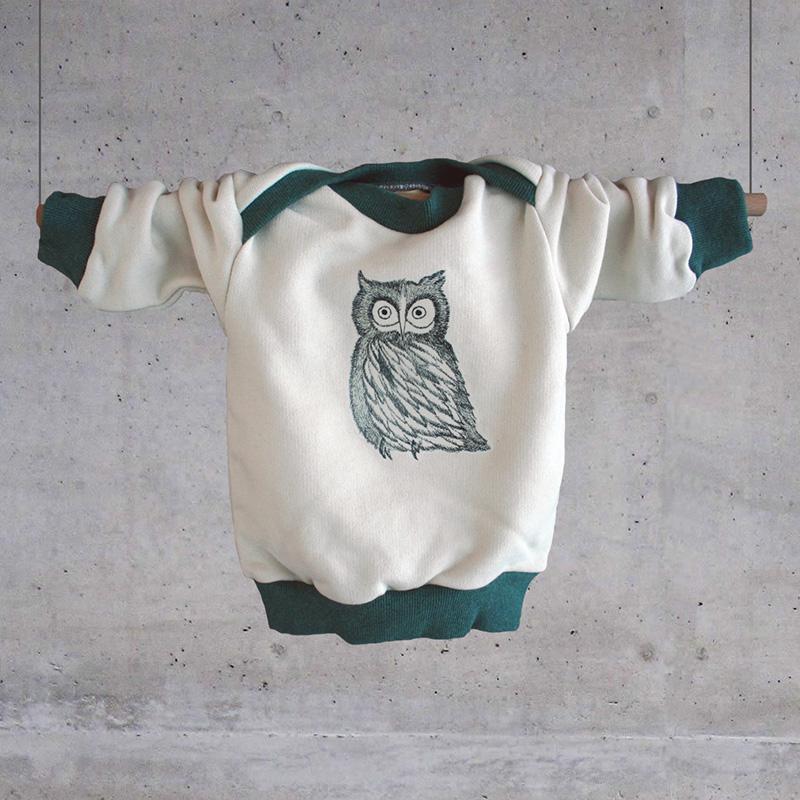 gluecksmeise eule baby sweater