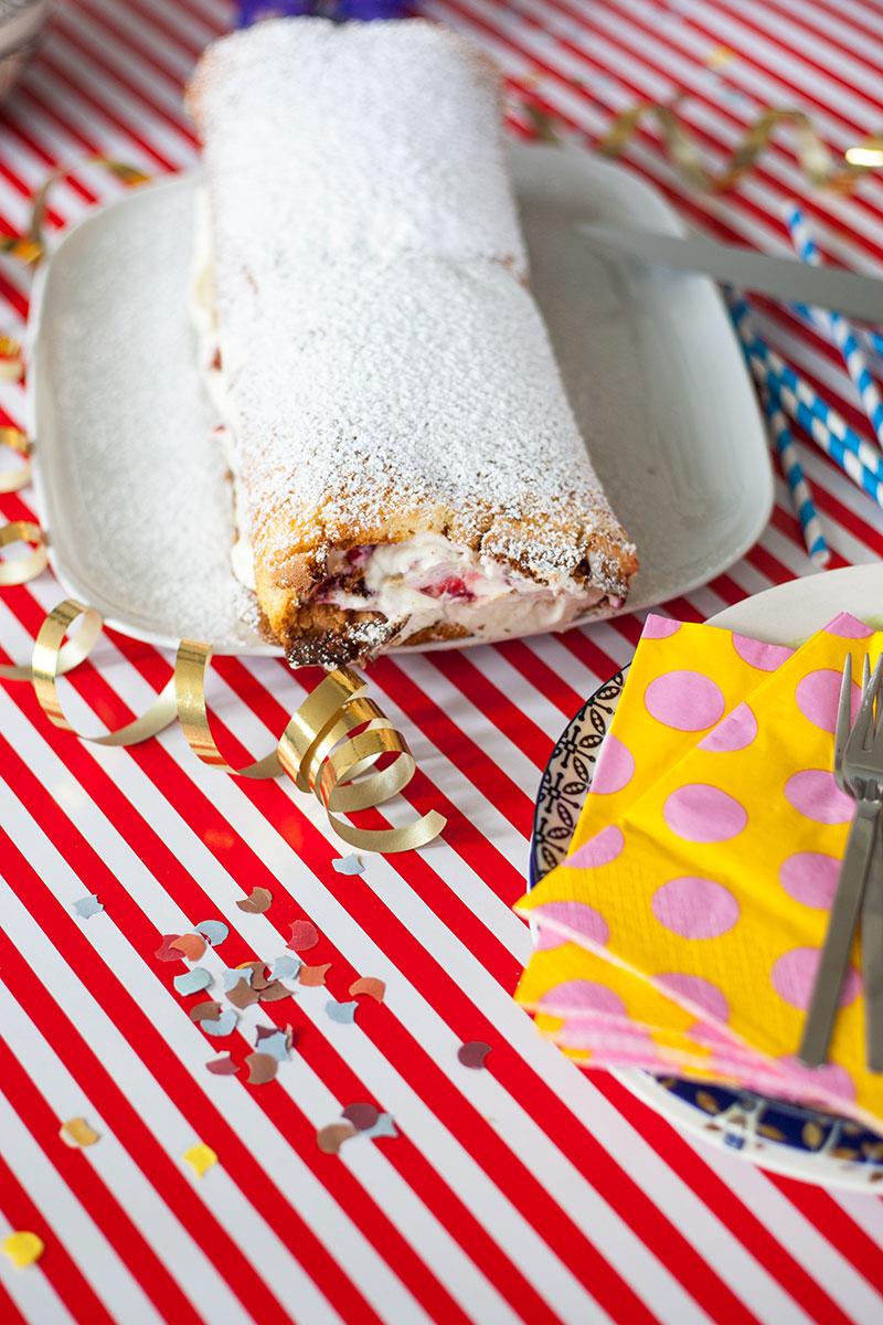 kindergeburtstag feier mit rezept biscuittorte