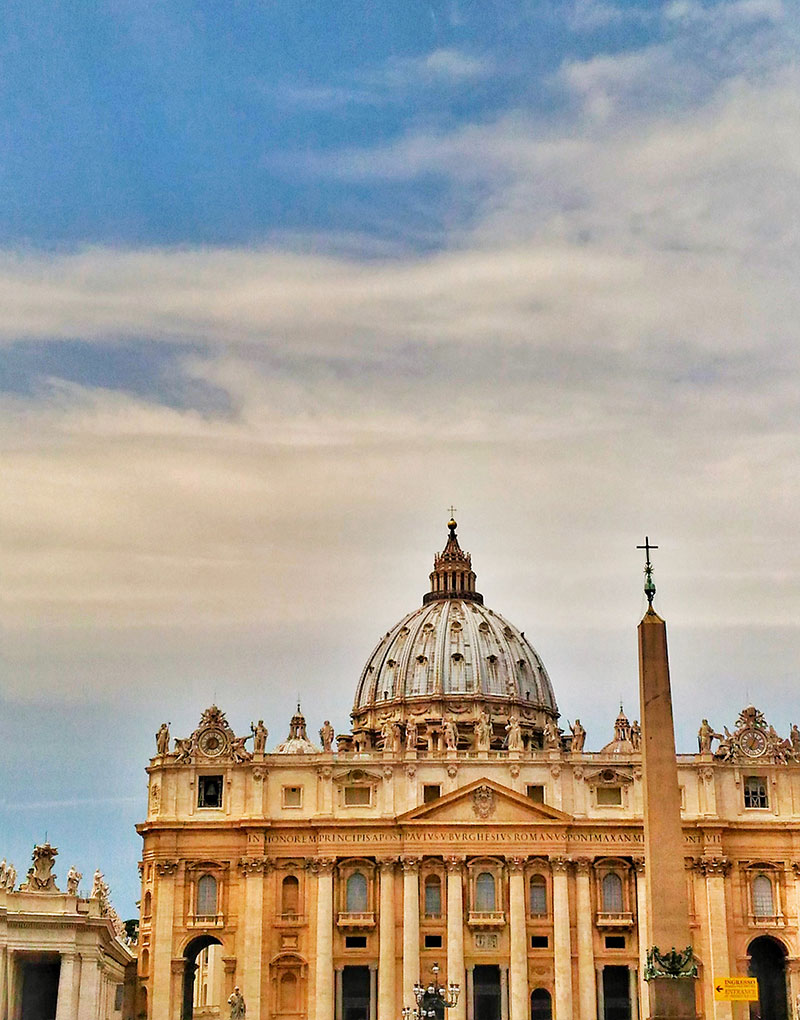vatikan rom mit kind