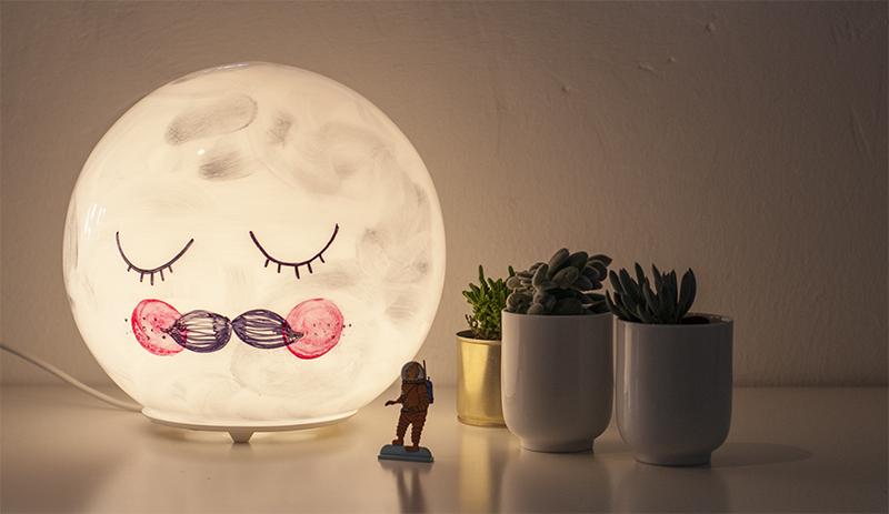 mr moon lampe selbermachen