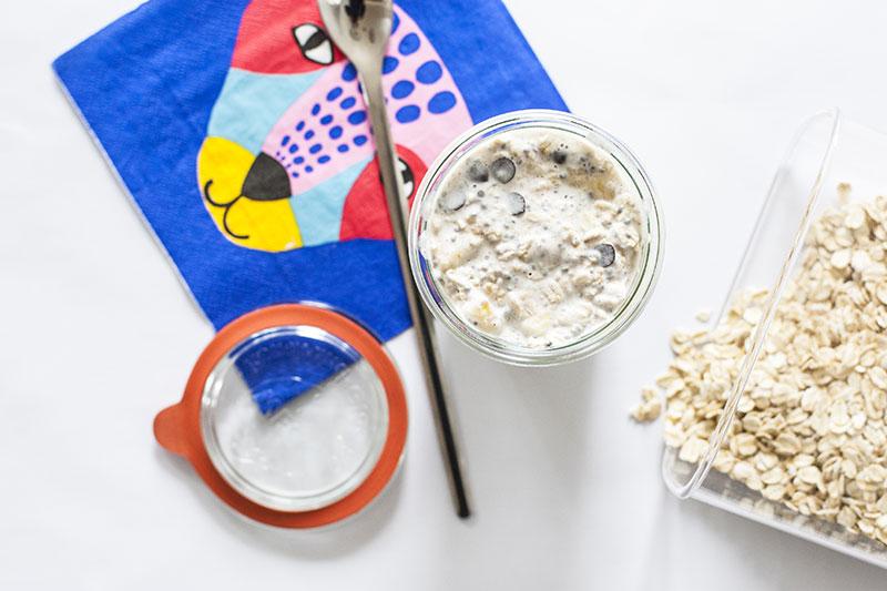 overnight oats schokobanane