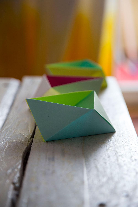 origami Papierschale basteln anleitung