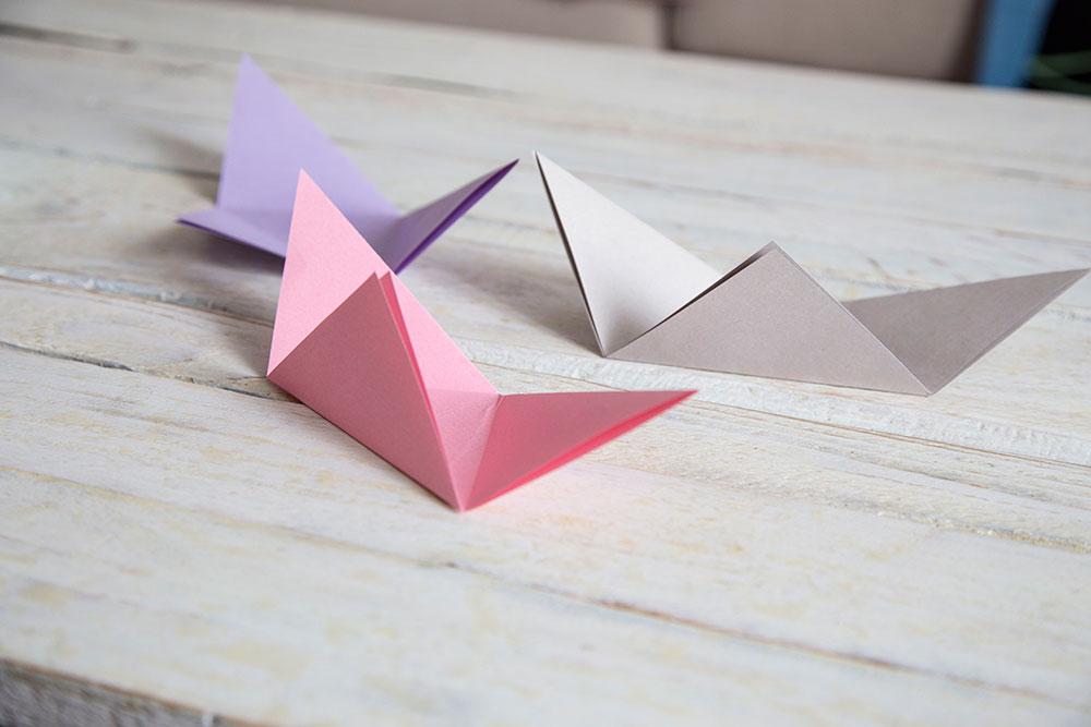 origami schaelchen basteln anleitung