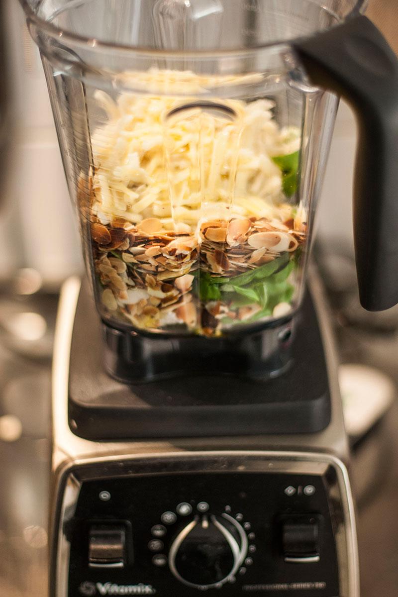 vitamix pesto für schnelle pasta