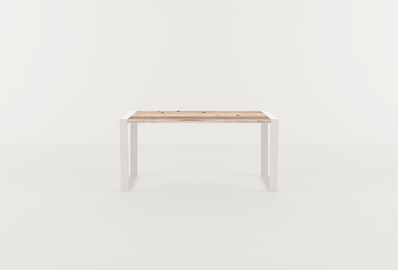 wooden spaces office table white