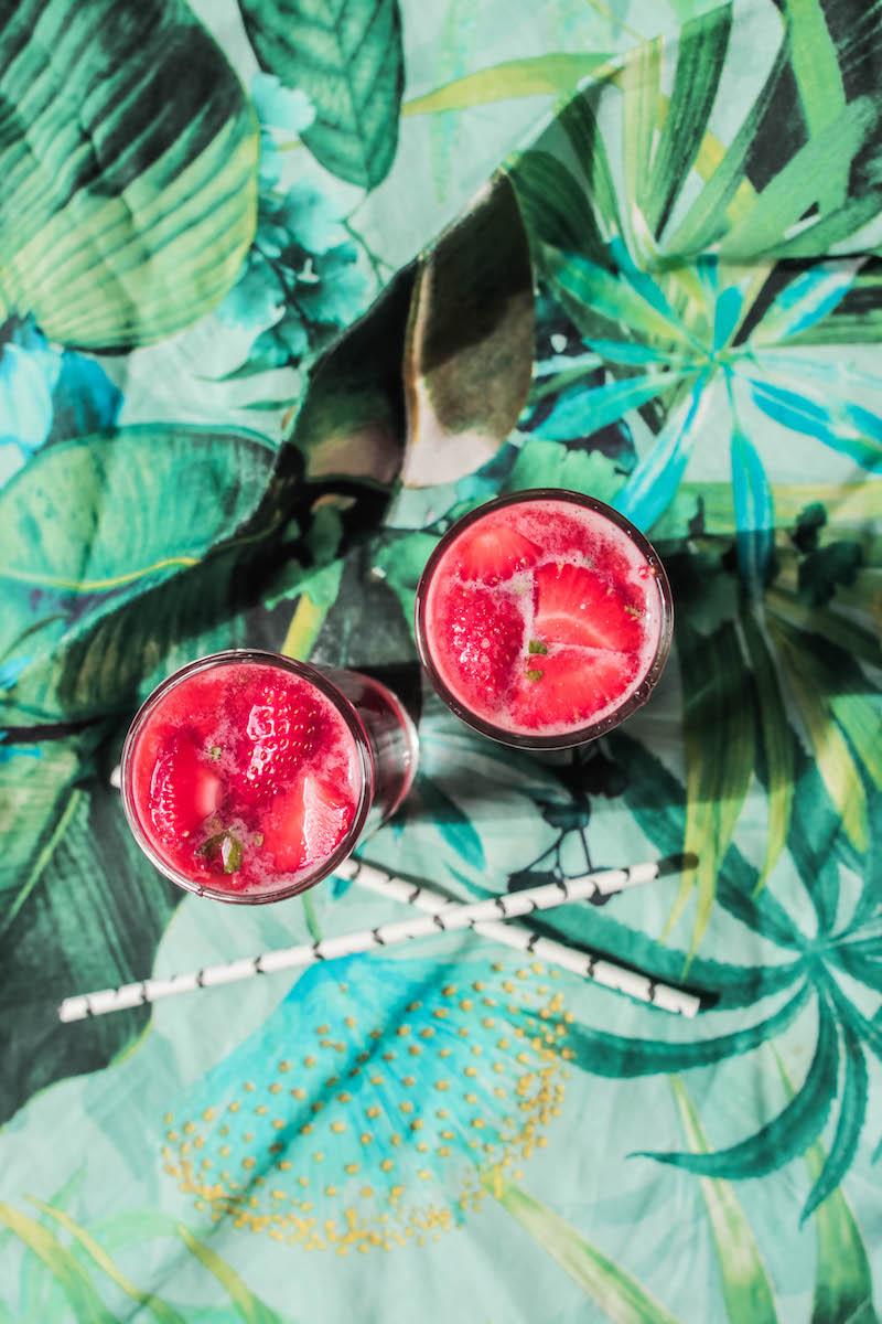 virgin erdbeer mojito